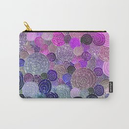 Abstract blue & purple glamour glitter circles and dots for Girls and ladies Carry-All Pouch