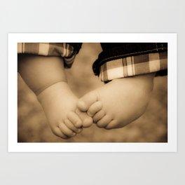 baby feet Art Print