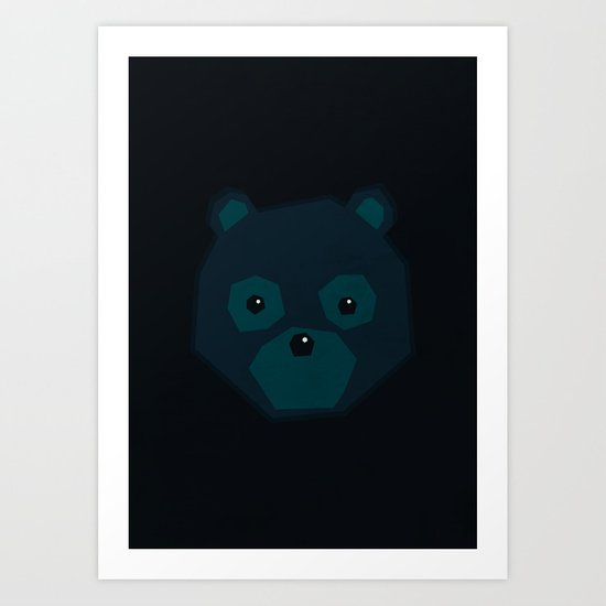 Polygon Bear Art Print