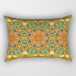 African Floral Pattern 3A Rectangular Pillow