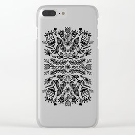 floral repeat 001 Clear iPhone Case