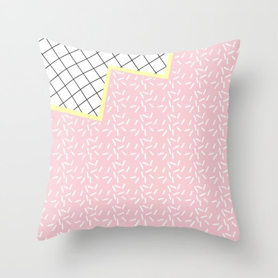 MEMPHIS PINK Throw Pillow