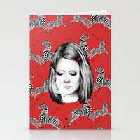 tenenbaum Stationery Cards featuring Margot Tenenbaum by Ester Dus