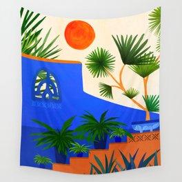 Southwest Summer Garden / Desert Landscape Wall Tapestry