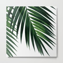 Tropical Green Palm Leaf #1 #botanical #decor #art #society6 Metal Print