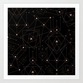 celestial pattern design Art Print