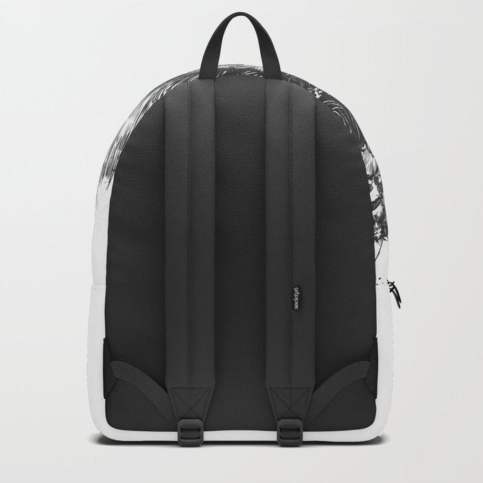 Floral lion (b&w) Backpack