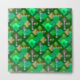 Green Spring Pattern Metal Print