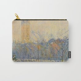 12,000pixel-500dpi - Frederick Childe Hassam - Snowstorm, Madison Square - Digital Remaster Carry-All Pouch