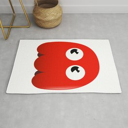 Retro red ghost Rug