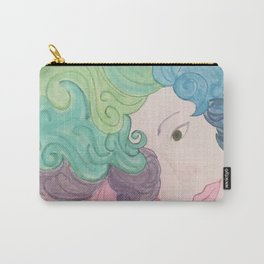 Higher Self Curly Rainbow Hair Carry-All Pouch