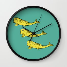 Yellow Fish Wall Clock