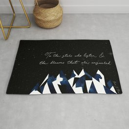 A Court of Mist and Fury Quote Rug