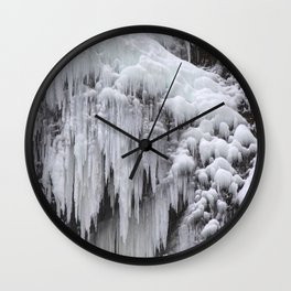 Cloaked in Ice II Wall Clock