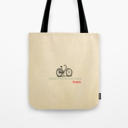 I Thought Of That While Riding My Bicycle Einstein Tote Bag
