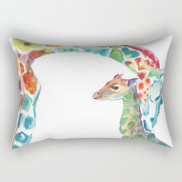 Mummy and Baby Giraffe College Dorm Decor Rectangular Pillow