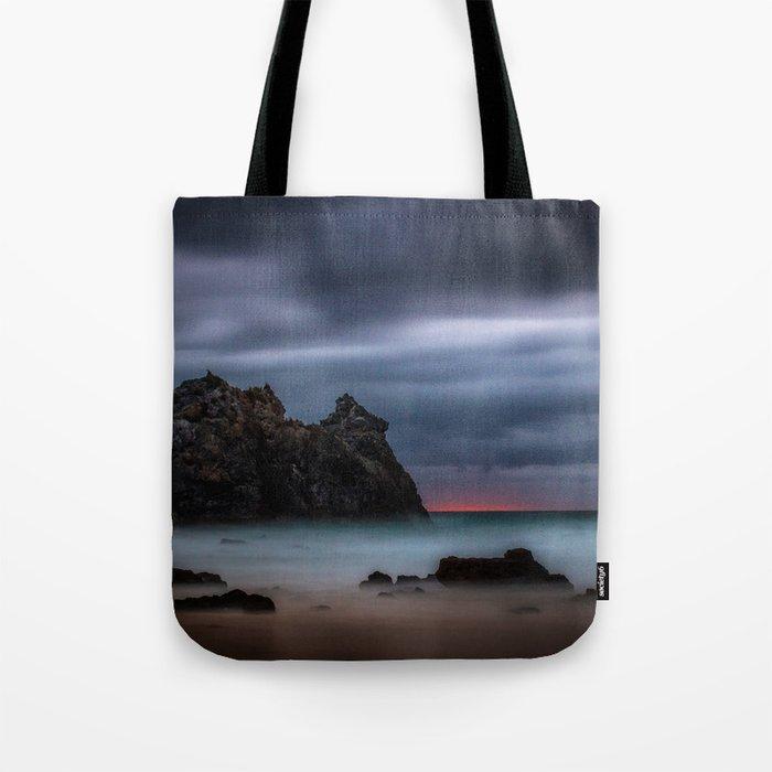 Rolling fog on the ocean Tote Bag