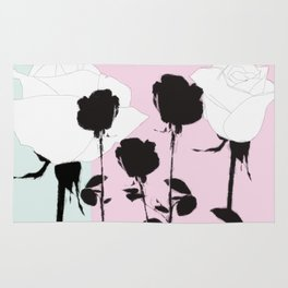 Roses with ink Rug