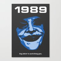 1989 Canvas Prints featuring 1989 by KNJ-