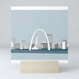 Modern Minimal St. Louis Missouri City Skyline Mini Art Print