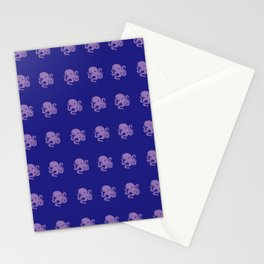 Octopus - Green - Blue Stationery Cards