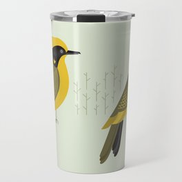 Helmeted Honeyeater, Bird of Australia Travel Mug