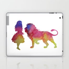 Lion and girl Laptop & iPad Skin