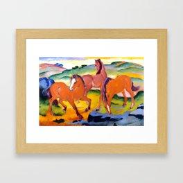 """Franz Marc """"Grazing Horses IV (The Red Horses)"""" Framed Art Print"""