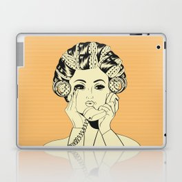 The woman with the curlers Laptop & iPad Skin