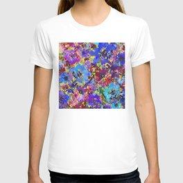 Deep Blue Poppy Garden T-shirt