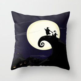The Boogie and the Claus Throw Pillow