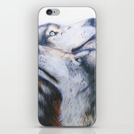 red wolves iPhone Skin