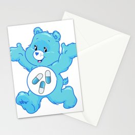 Blue Pills Bear Stationery Cards