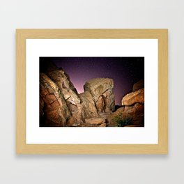 Nude in the Desert Framed Art Print