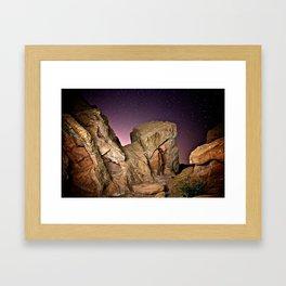 Nude in the Desert Framed Art Print
