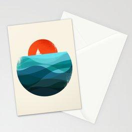 Deep blue ocean Stationery Cards