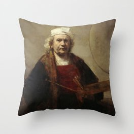 Self-Portrait with Two Circles Throw Pillow