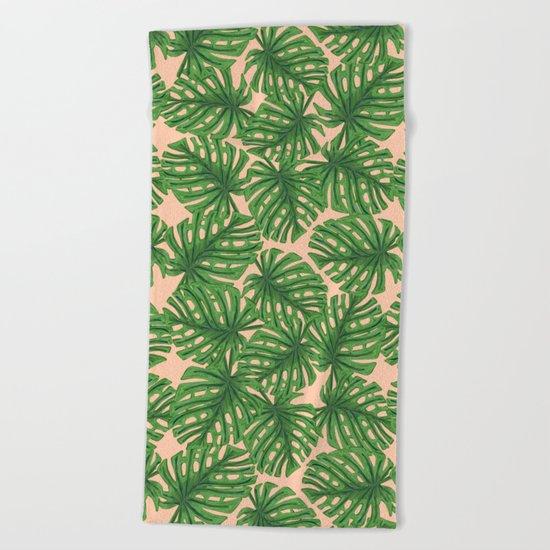 Monstera Theme 2 Beach Towel