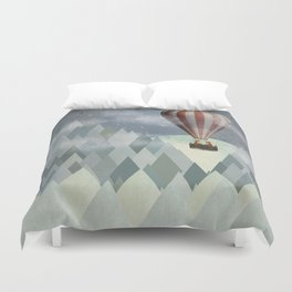 mr and mrs fox great adventure Duvet Cover