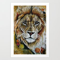 Beauty Lion Art Print