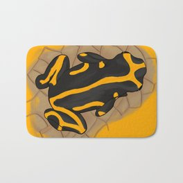 yellow-banded poison dart frog Bath Mat