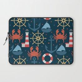 Sea blue pattern Laptop Sleeve