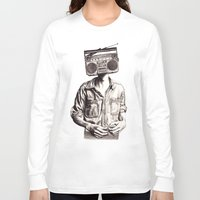 radio Long Sleeve T-shirts featuring Radio-Head by KatePowellArt
