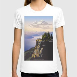 Retro travel BC poster T-shirt