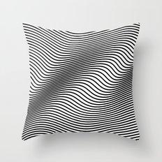 Bold Minimal Lines Throw Pillow
