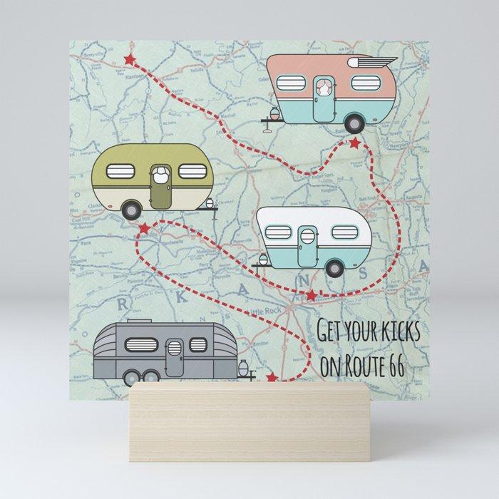 Get Your Kicks Mini Art Print