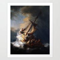 The Storm on the Sea of Galilee by Rembrandt van Rijn Art Print