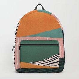 Modern irregular Stripes 02 Backpack