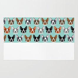 Boston Terrier heads cute pet portraits terrier owner must have gifts hipster dog breeds cute puppy Rug