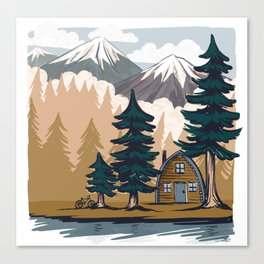 Summer cabin Canvas Print